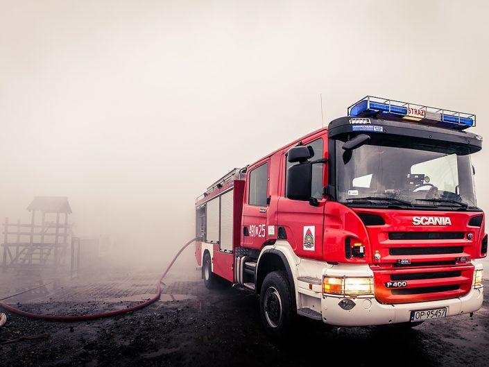 Pożar hurtowni w Szczepanku