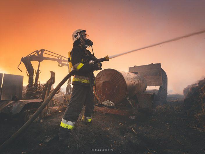Pożar w Skrzydłowicach